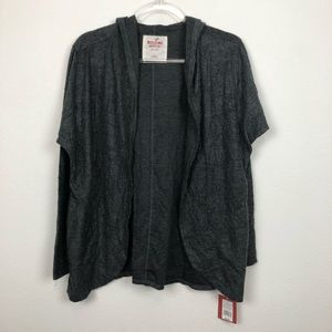 NEW Mossimo Gray Open Front Hooded Cardigan Size S
